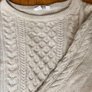 Gap Cream Irish Knit Sweater